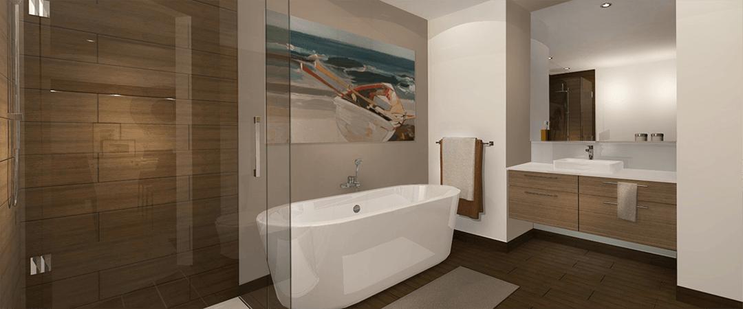 Les Terrasses Calixa-Lavallée - Salle de bain condo A