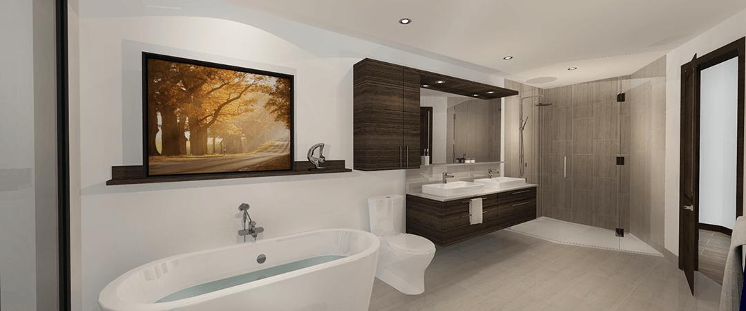 Les Terrasses Calixa-Lavallée - Salle de bain condo D