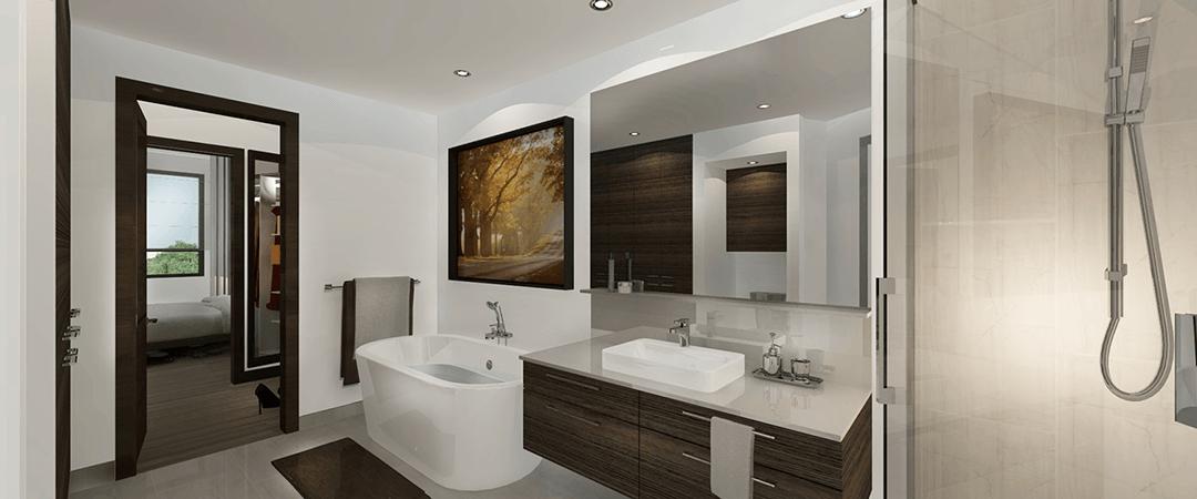 Les Terrasses Calixa-Lavallée - Salle de bain condo D1