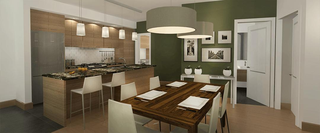 Les Terrasses Calixa-Lavallée - Condo B cuisine